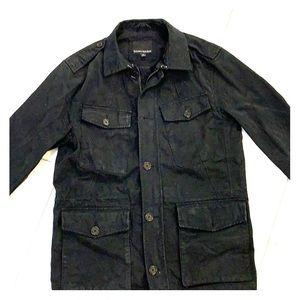 Banana Republic M Black Cotton Canvas Zip Jacket